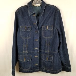Jones New York denim jacket size Large EUC